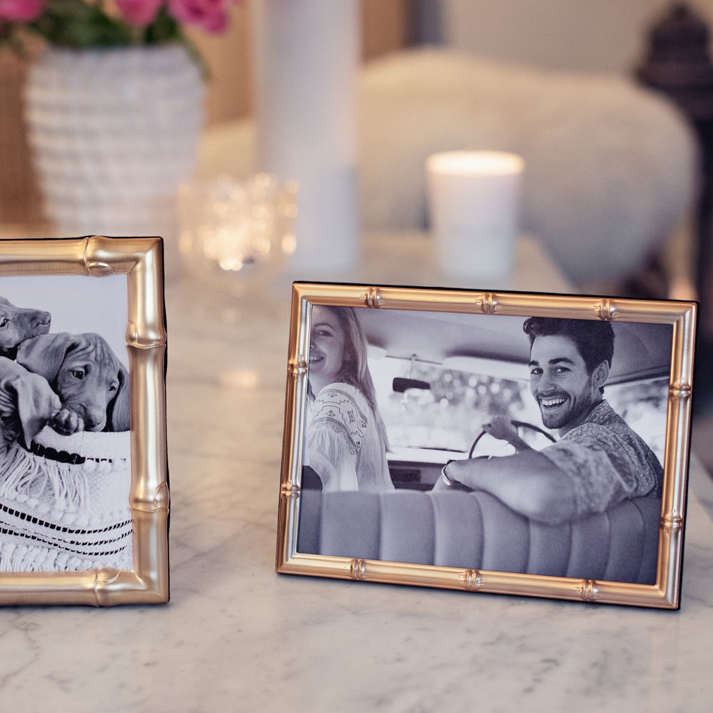Bamboo Matte Gold Photo Frame