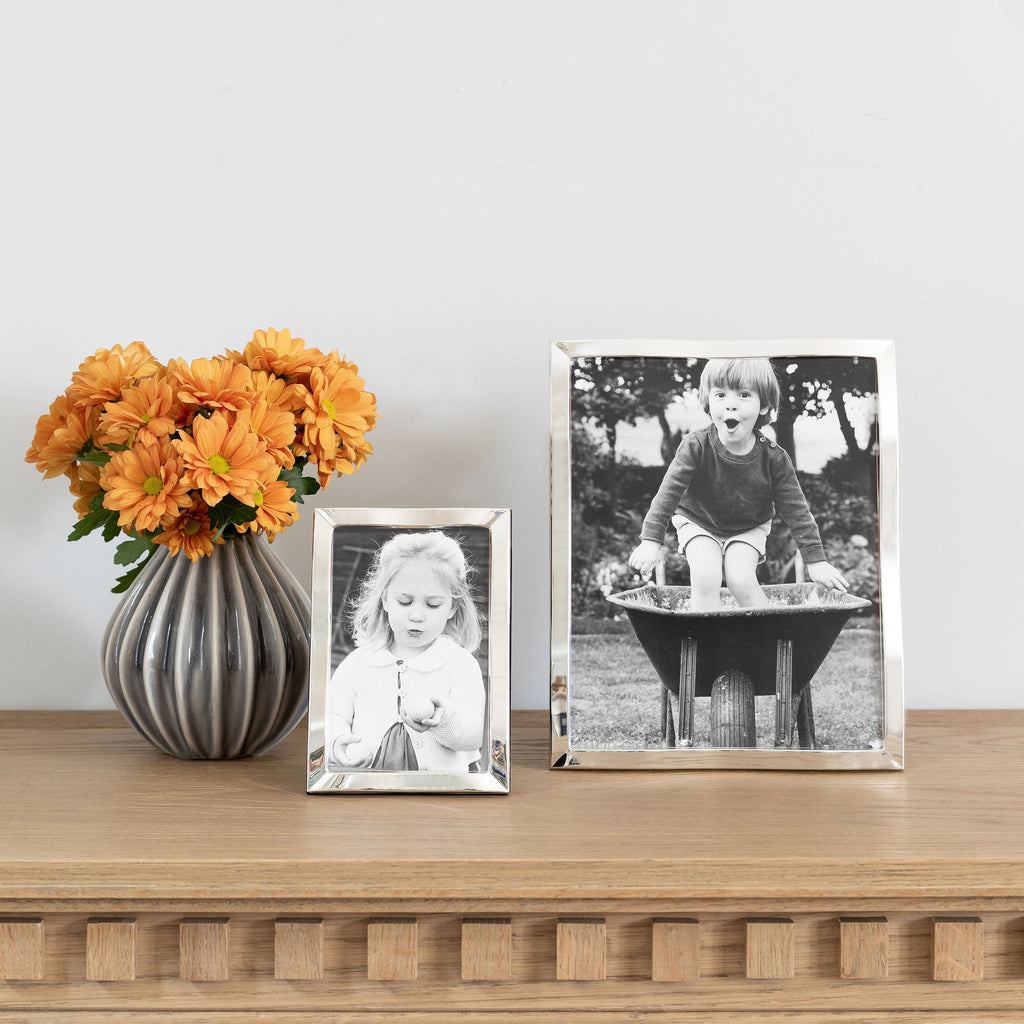 Silver Plate Wave Photo Frame