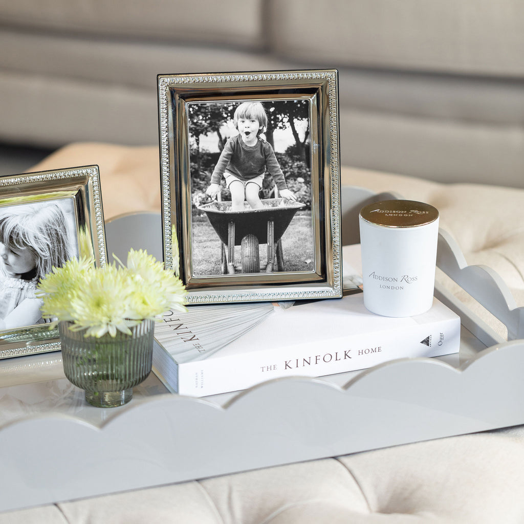 Silver Tooth Pattern Photo Frame