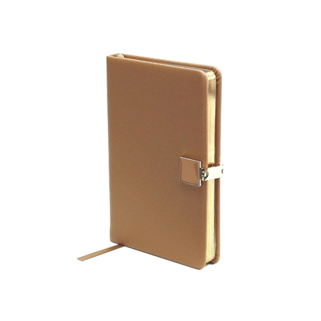 Tan & Gold A6 Notebook