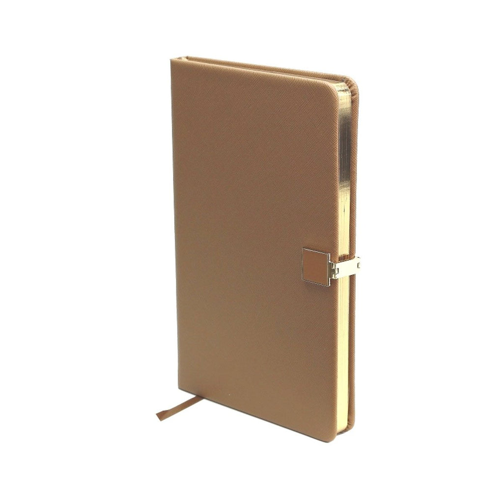 Tan & Gold A5 Notebook