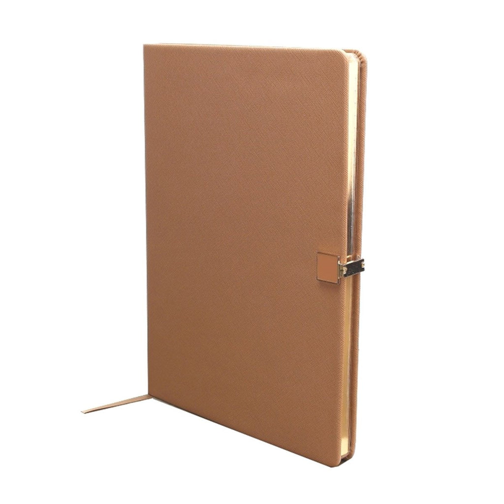 Tan & Gold A4 Notebook