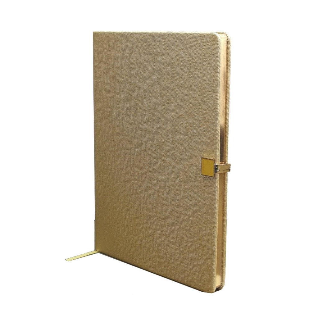 Gold & Gold A4 Notebook