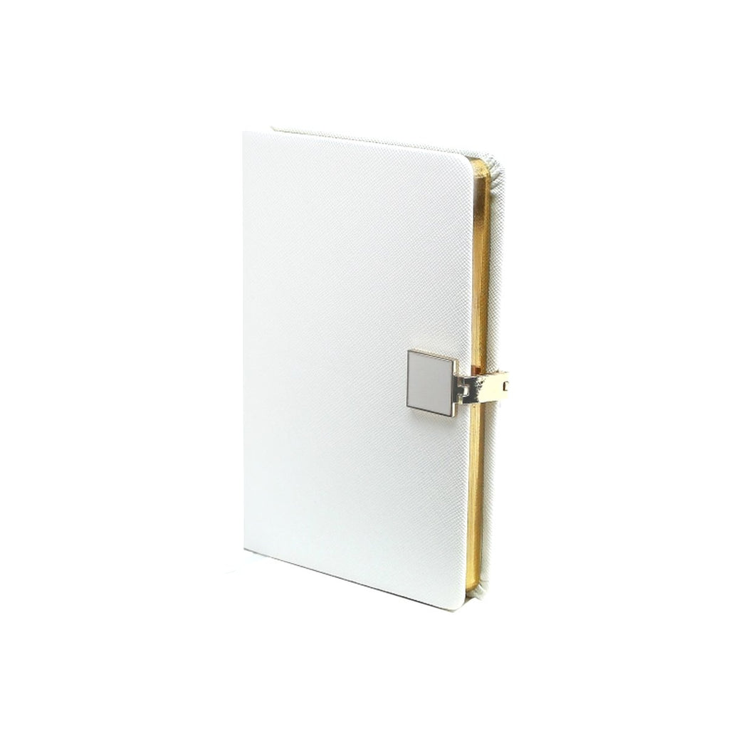 White & Gold A6 Notebook