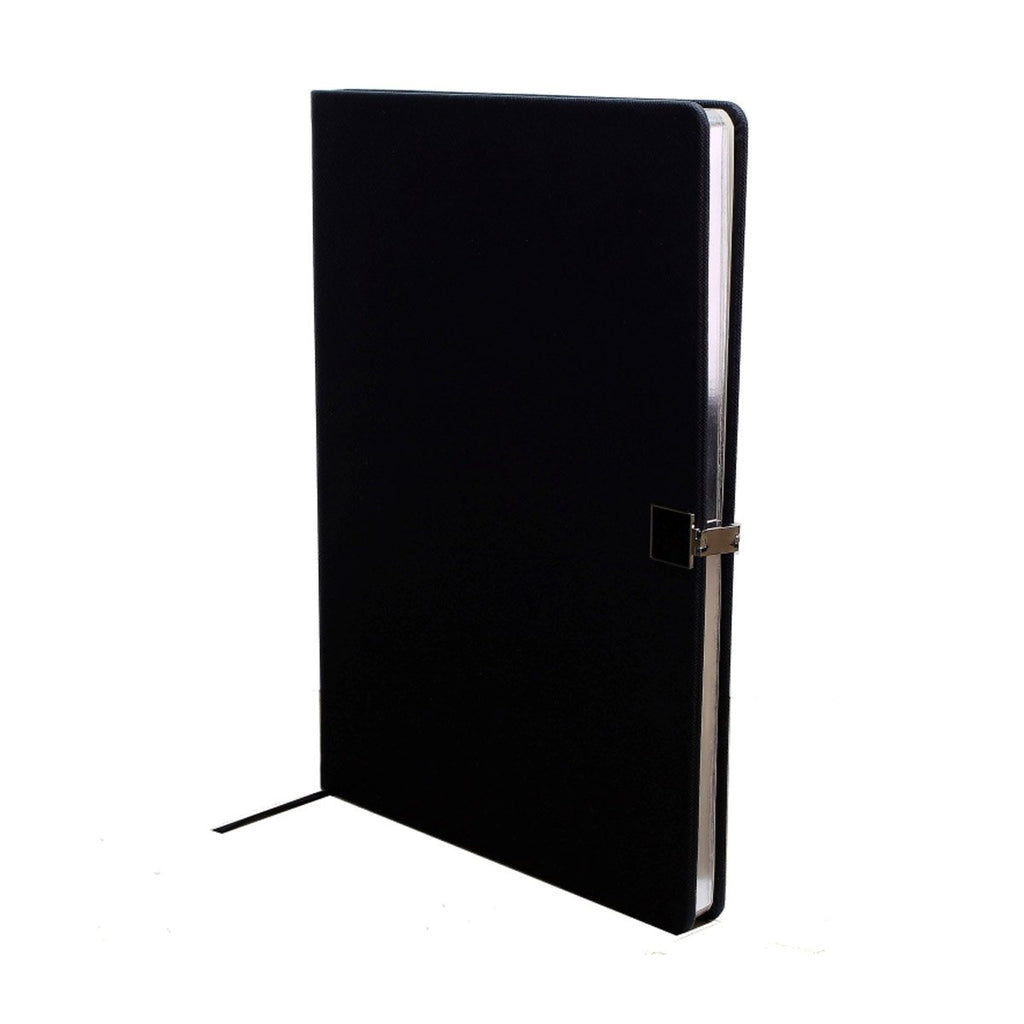 Black & Silver A4 Notebook