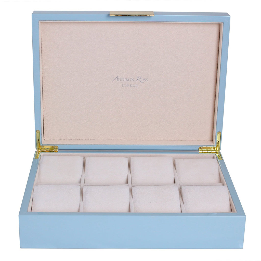 Large Pale Denim & Gold Watch Box