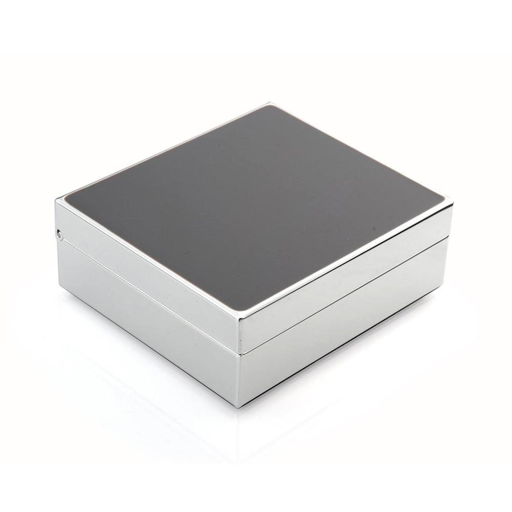 "4"" Taupe & Silver Box - Boxes & Pots - Addison Ross"