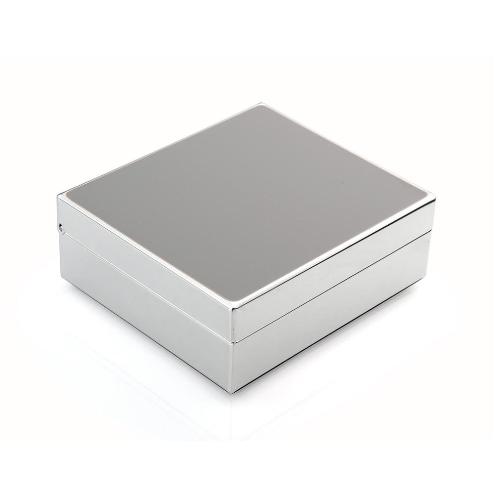 "4"" Chiffon Enamel & Silver Box - Boxes & Pots - Addison Ross"