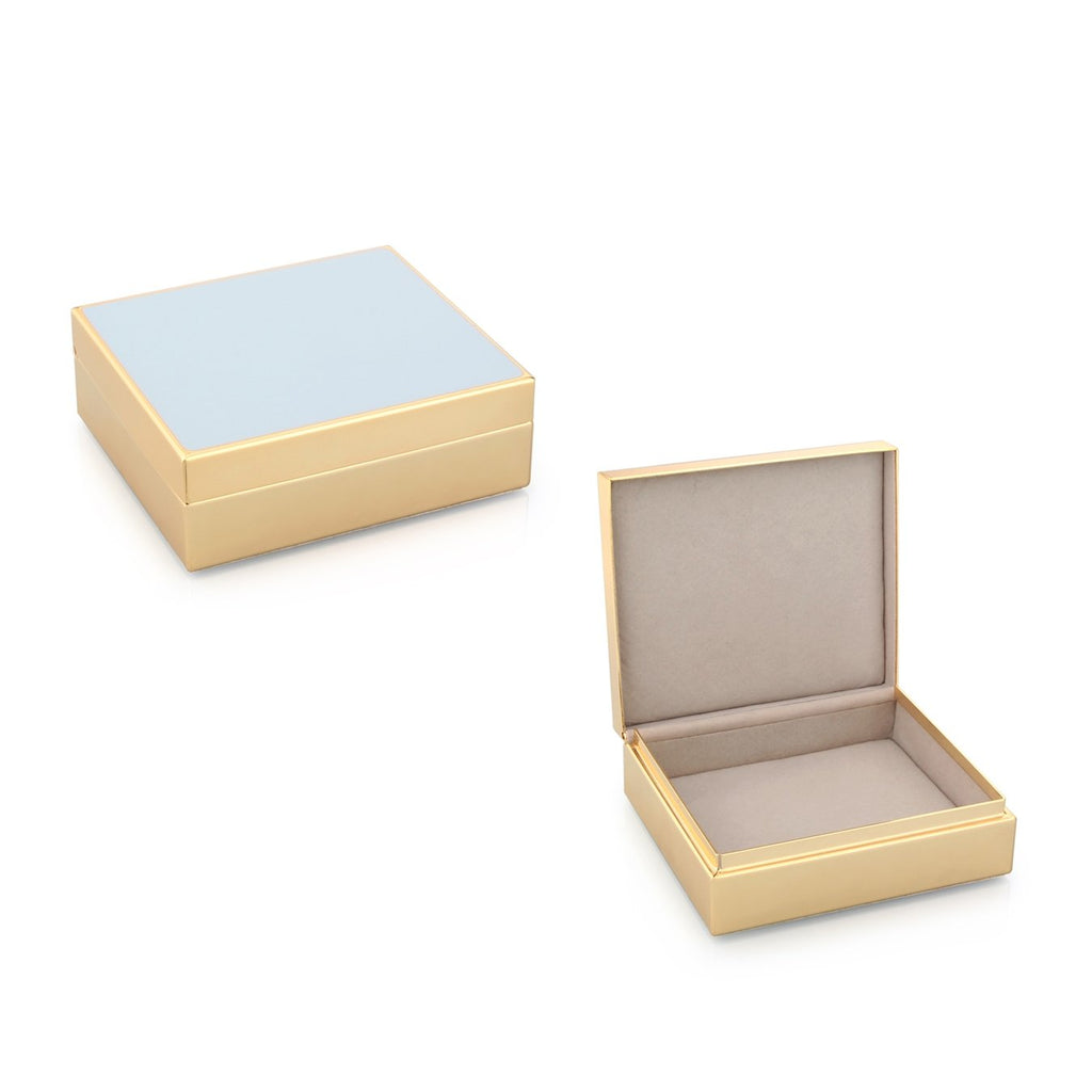 Powder Blue Enamel & Gold Box