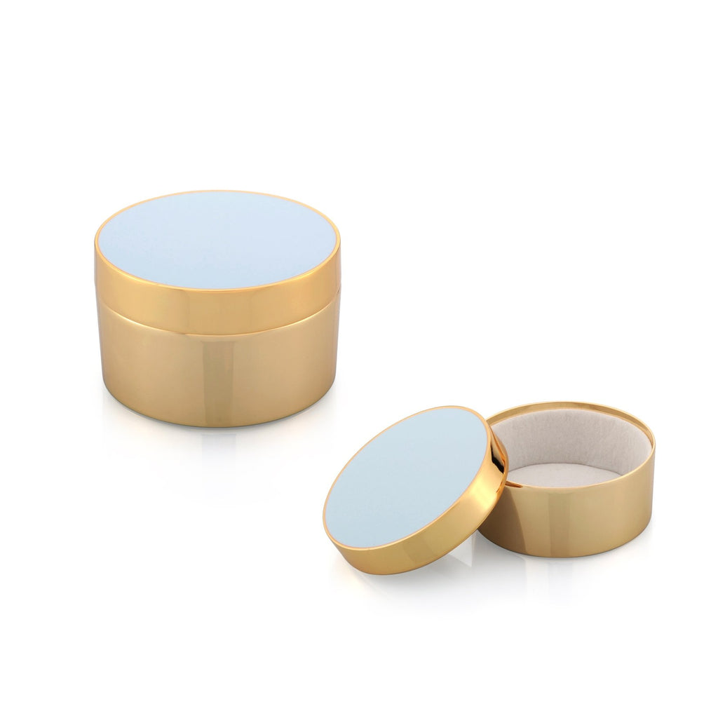Powder Blue & Gold Trinket Pot