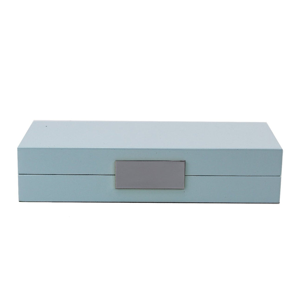Light Blue Lacquer Box With Silver - Boxes & Pots - Addison Ross