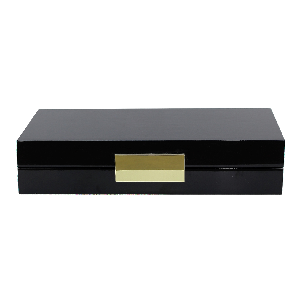 Black Lacquer Box With Gold