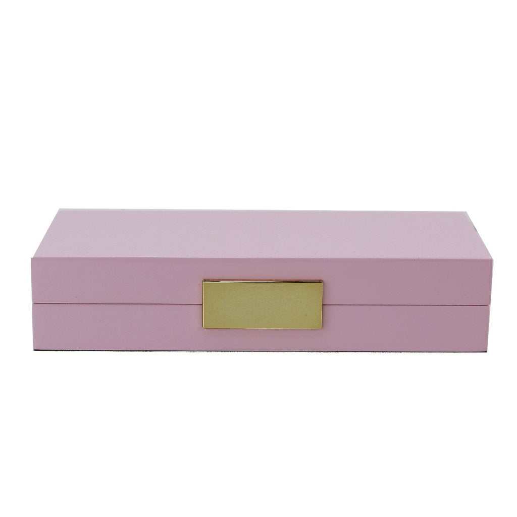Pink Lacquer Box With Gold - Boxes & Pots - Addison Ross