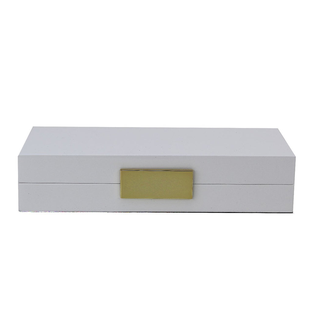 White Lacquer Box With Gold - Boxes & Pots - Addison Ross