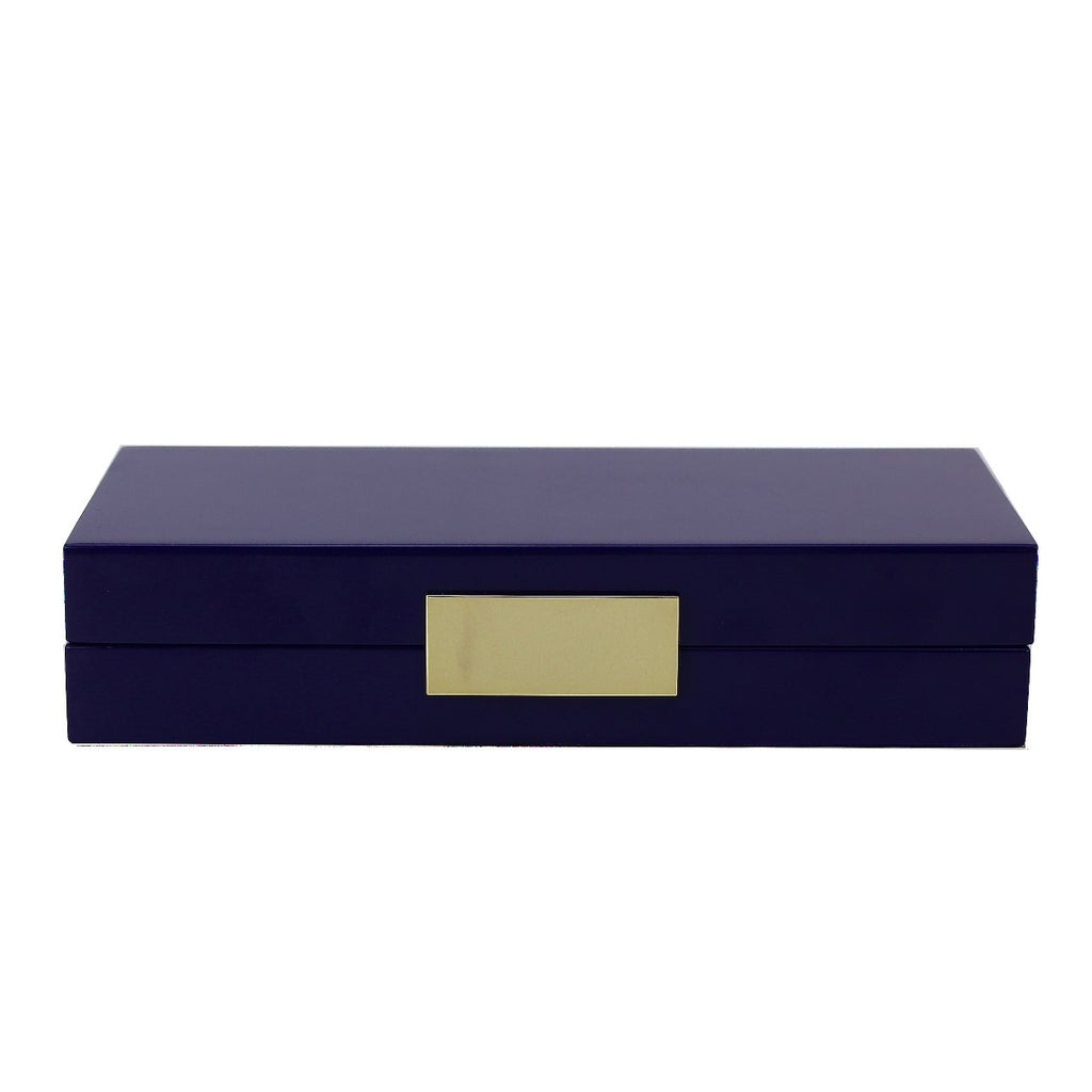 Navy Lacquer Box With Gold - Boxes & Pots - Addison Ross