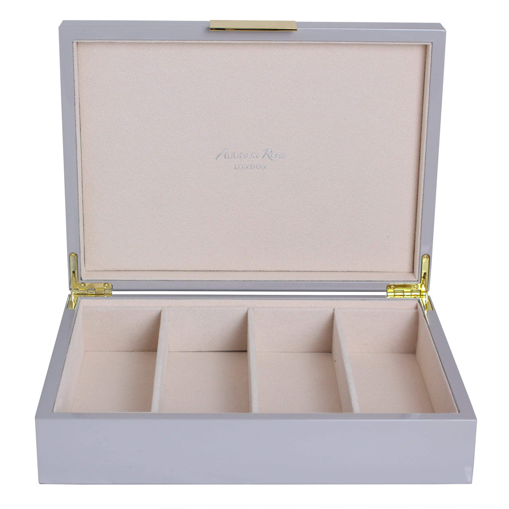Large Chiffon Grey & Gold Glasses Box