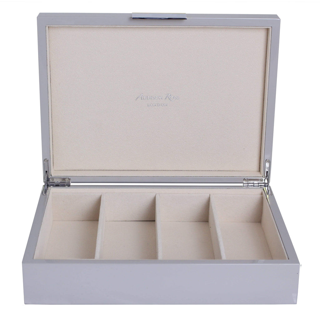 Large Chiffon Grey & Silver Glasses Box