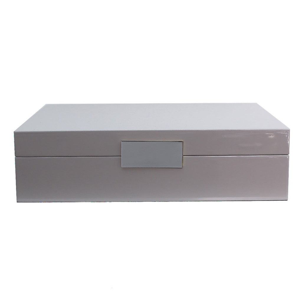 Large Chiffon Grey & Silver Watch Box