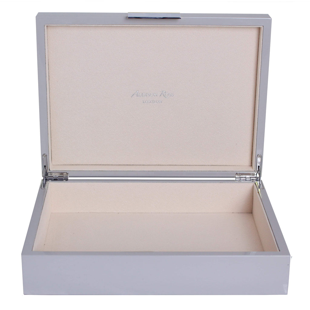 Large Chiffon Lacquer Box With Silver
