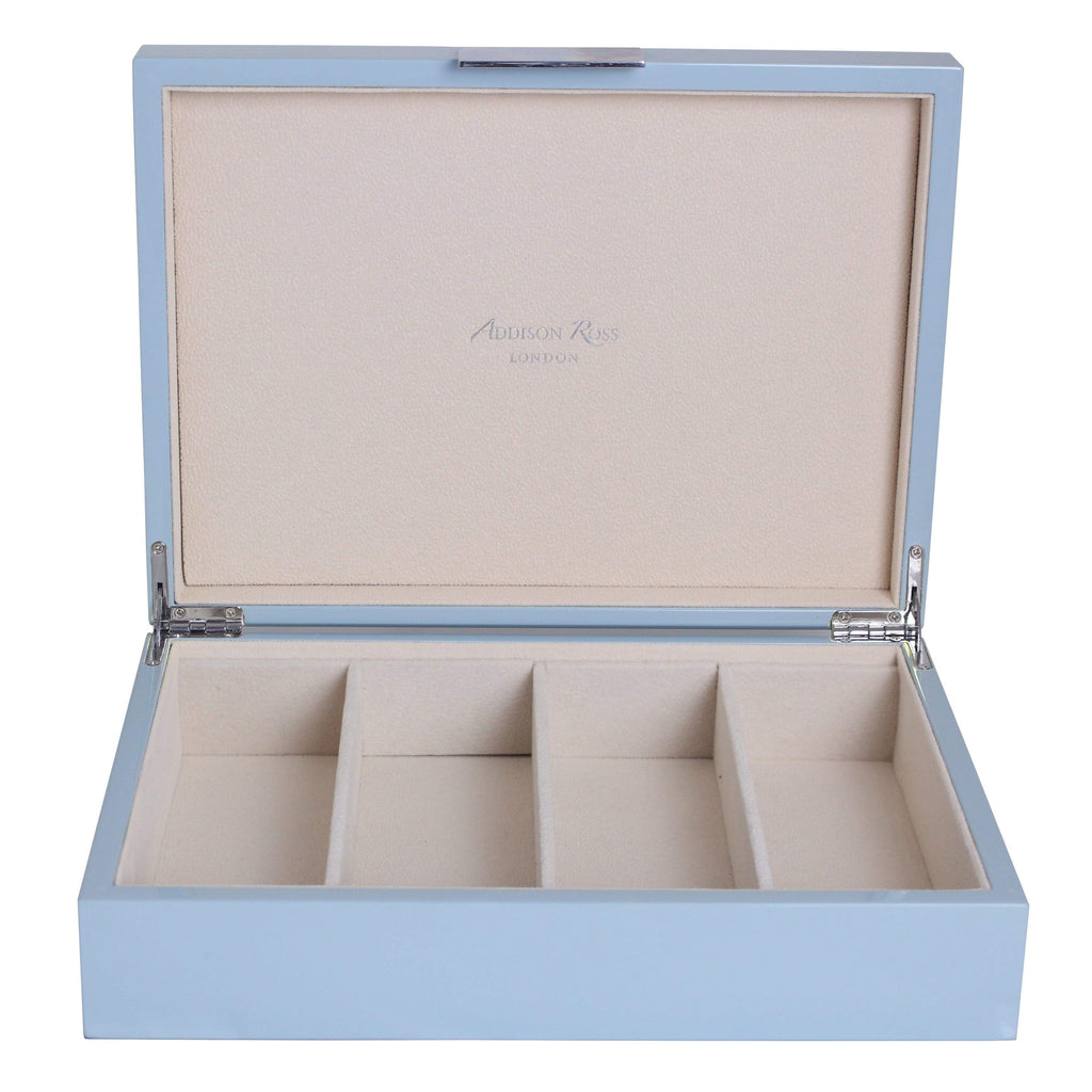 Large Pale Denim & Silver Glasses Box