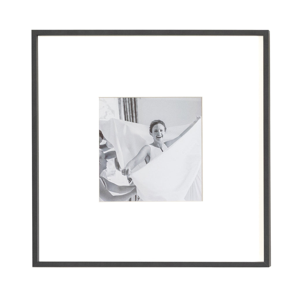 Single Aperture Black Wall Hanging Frame