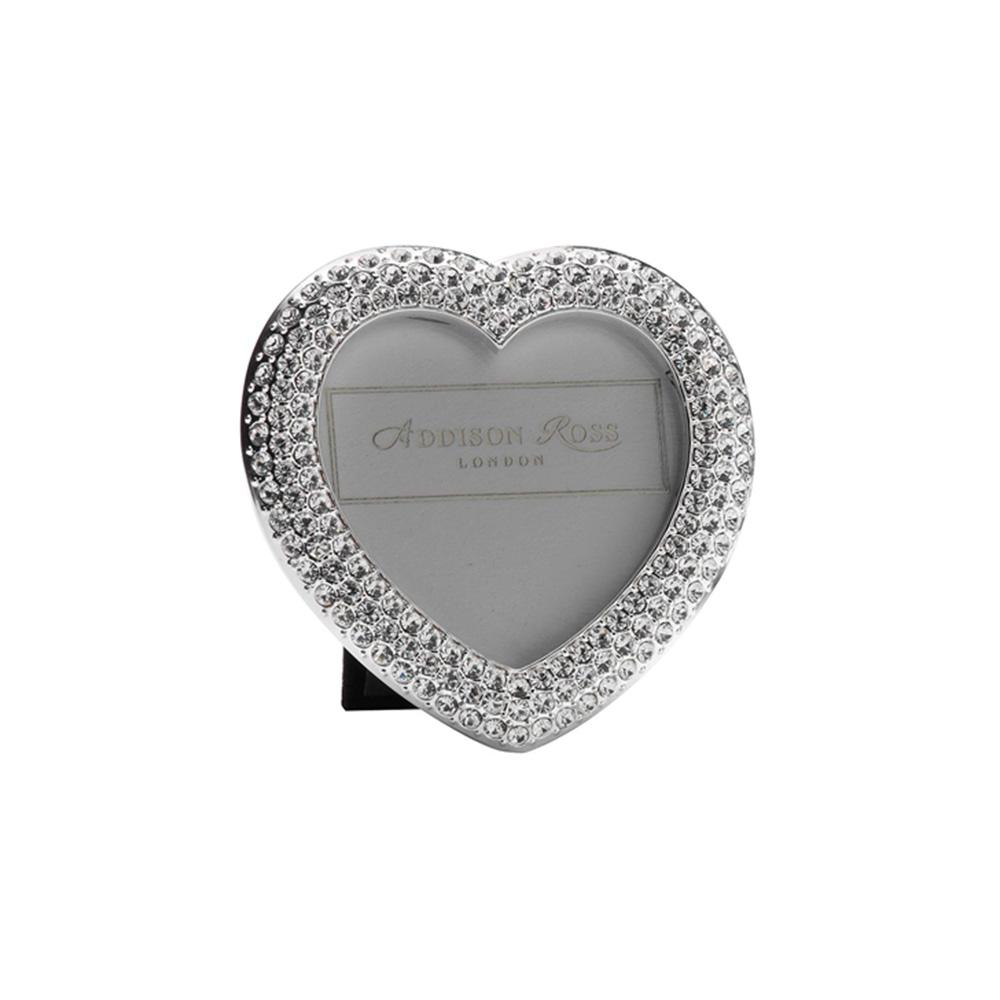 Diamante Heart Mini Frame - Silver Frames - Addison Ross