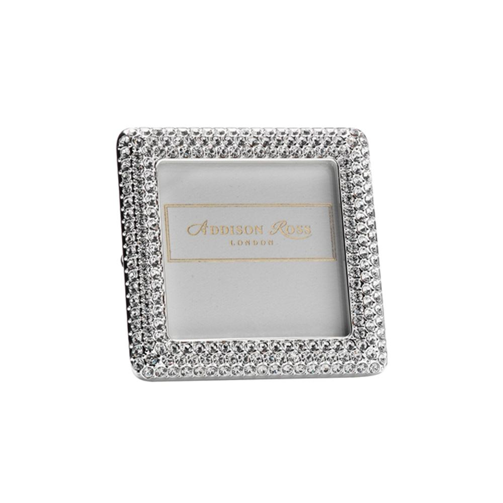 Diamante Square Mini Frame - Silver Frames - Addison Ross