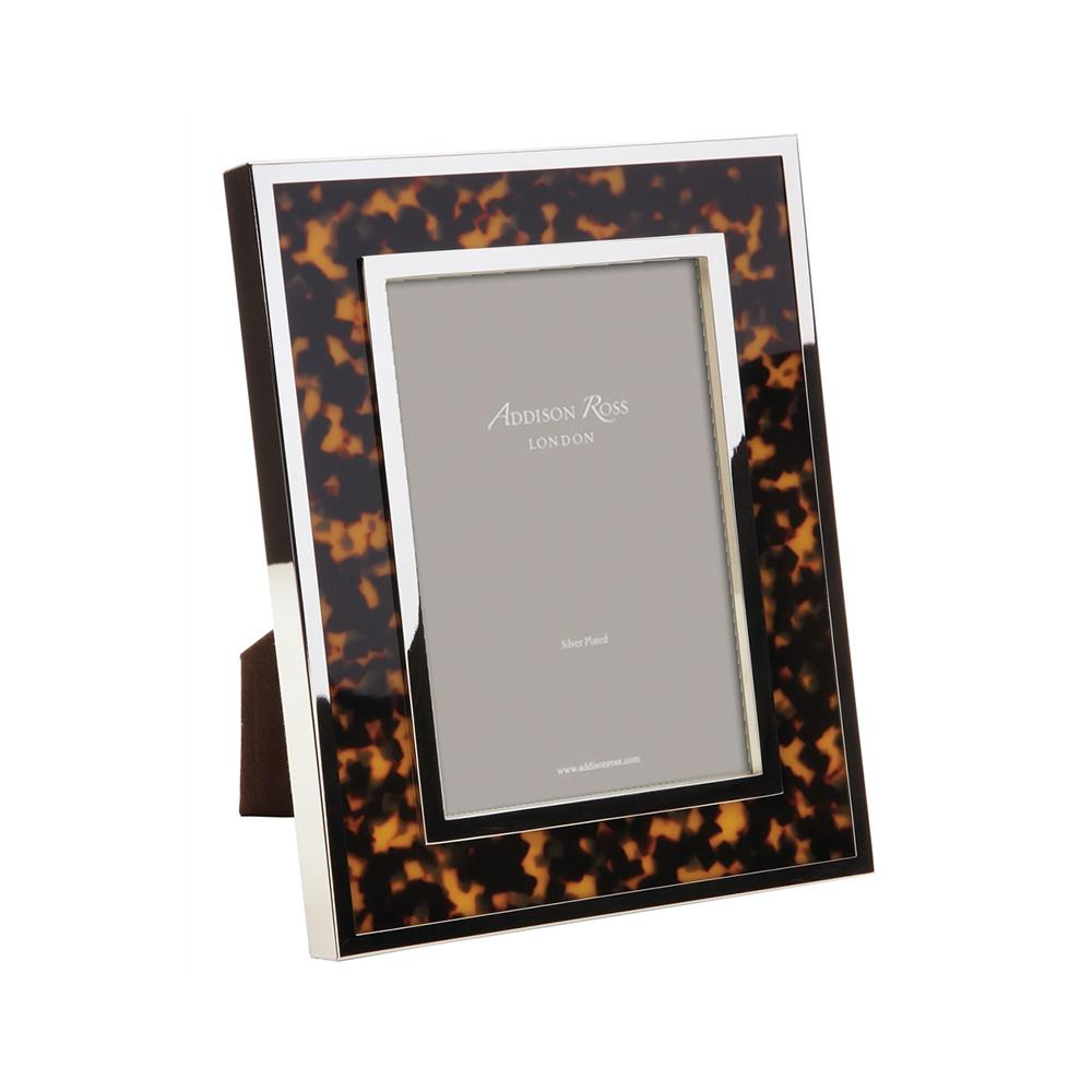 Chunky Faux Tortoiseshell & Silver Photo Frame - Exotic Frames - Addison Ross