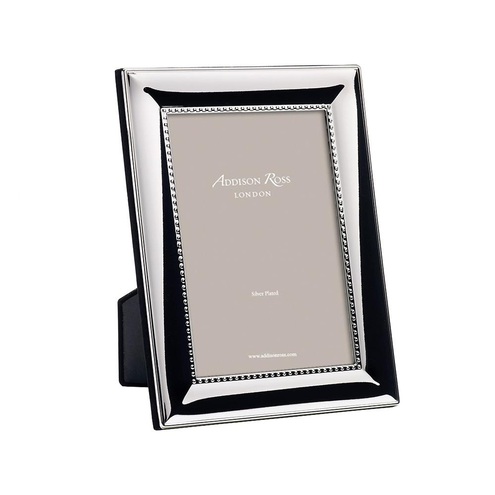 Beaded Silver Plated Photo Frame - Silver Frames - Addison Ross