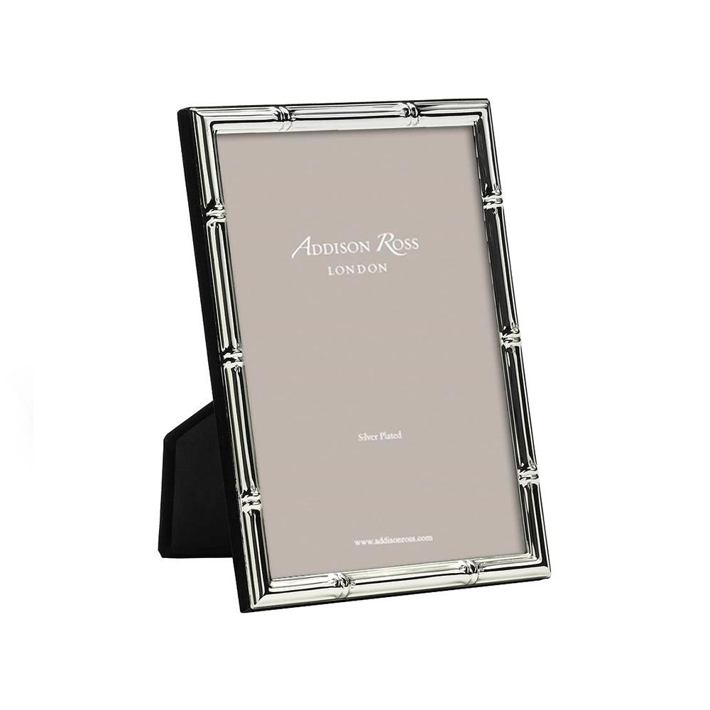Bamboo Silver Plated Photo Frame - Silver Frames - Addison Ross
