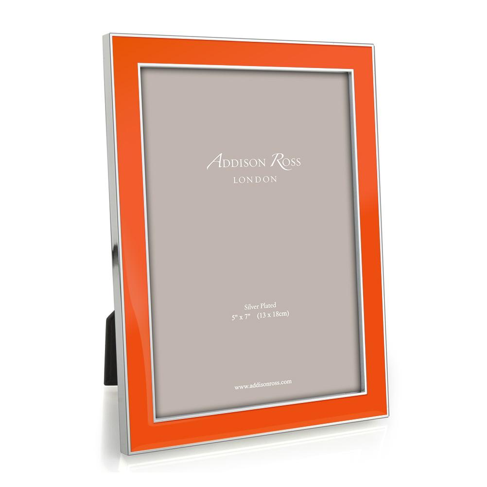 Orange Enamel & Silver Frame - Enamel Frames - Addison Ross