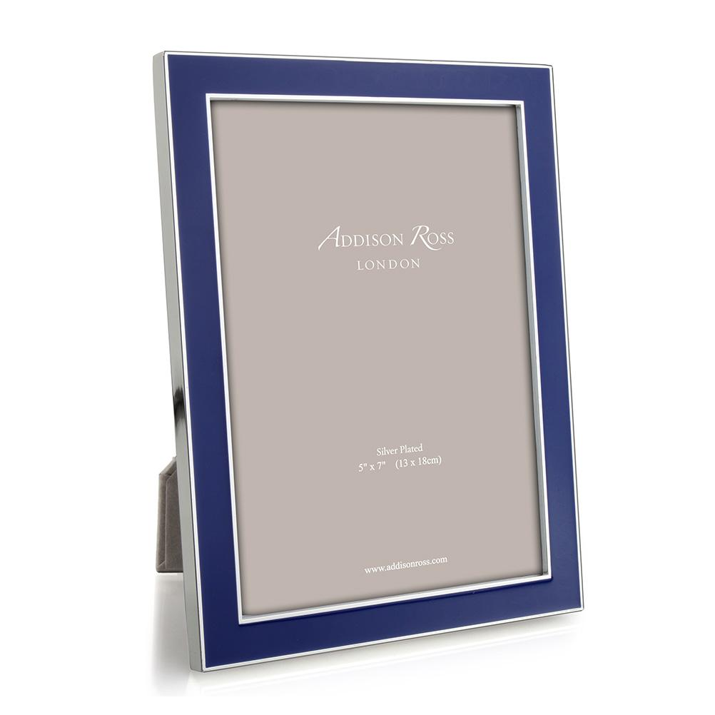 Royal Blue Enamel & Silver Frame - Enamel Frames - Addison Ross