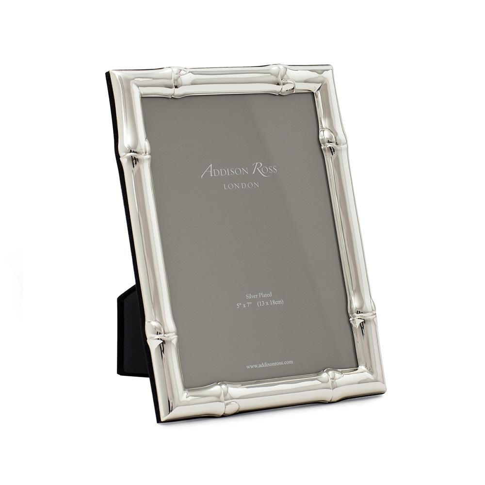 Wide Bamboo Silver Plated Photo Frame - Silver Frames - Addison Ross