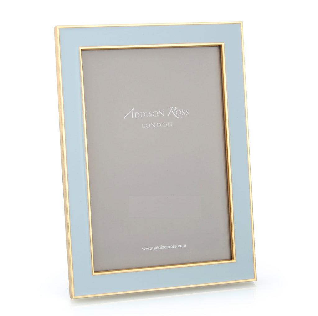 Powder Blue Enamel & Gold Frame