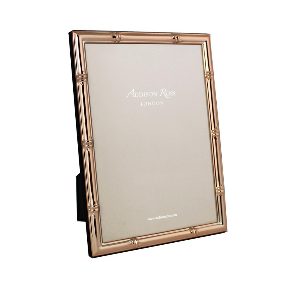 Bamboo Rose Gold Photo Frame - Gold Frames - Addison Ross