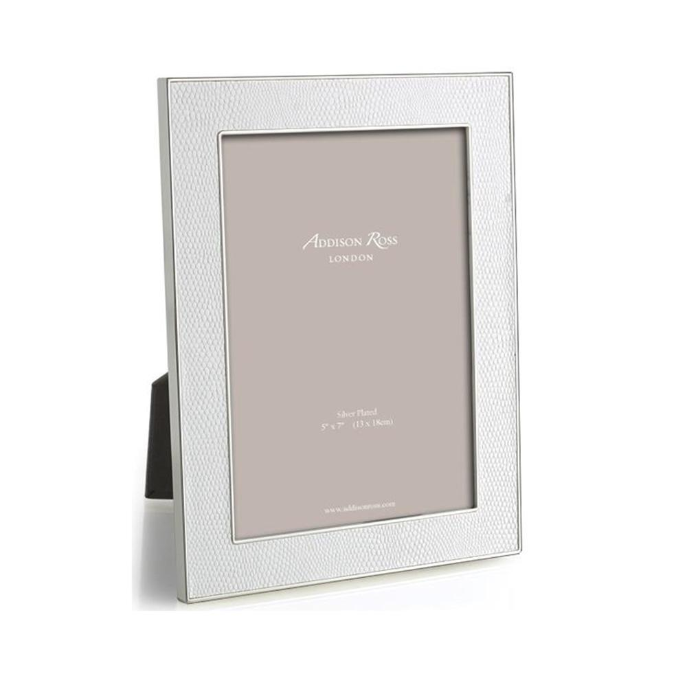White Snake & Silver Frame - Leather Frames - Addison Ross
