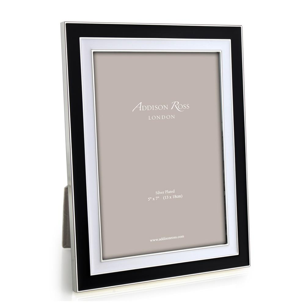 Manhattan Black & White Enamel Frame - Enamel Frames - Addison Ross