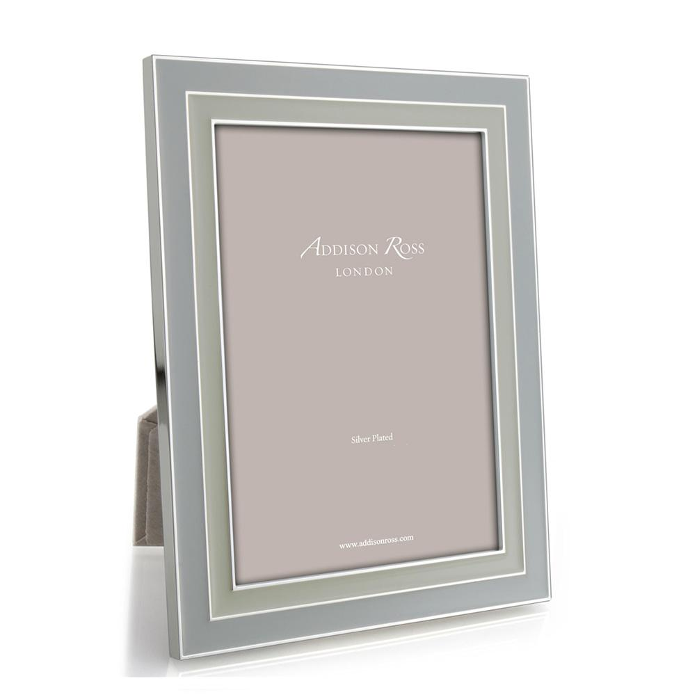 Manhattan Dove Grey & Pebble Enamel Frame - Enamel Frames - Addison Ross