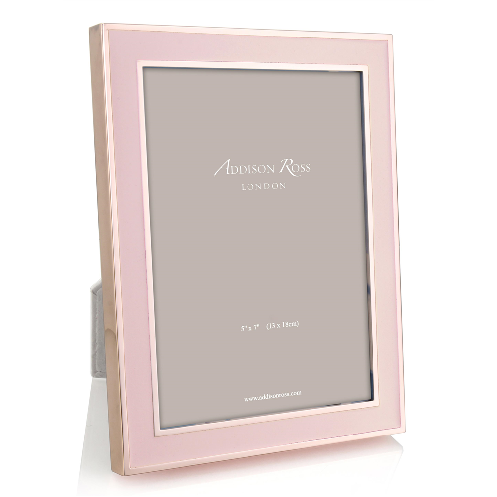 Blush Pink Enamel & Rose Gold Frame - Enamel Frames - Addison Ross