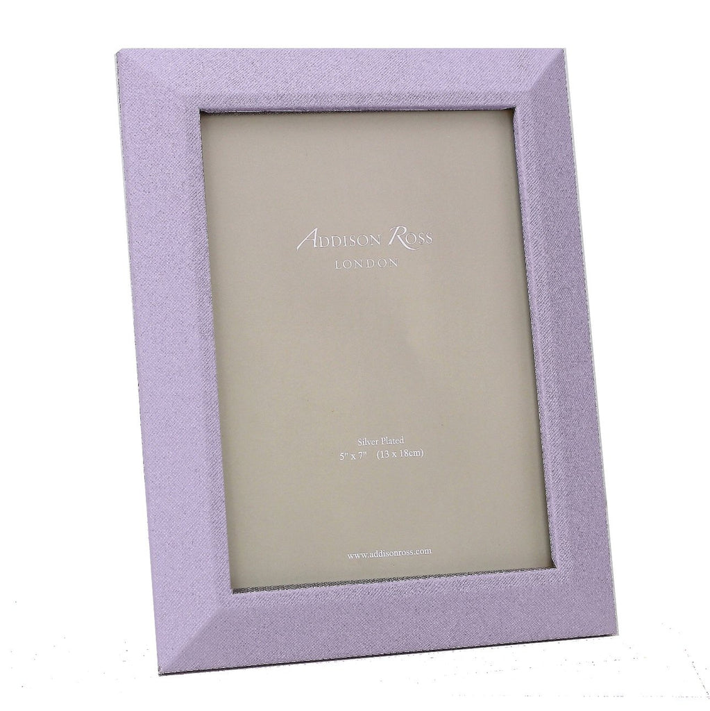 Lilac Faux Leather Photo Frame - Leather Frames - Addison Ross