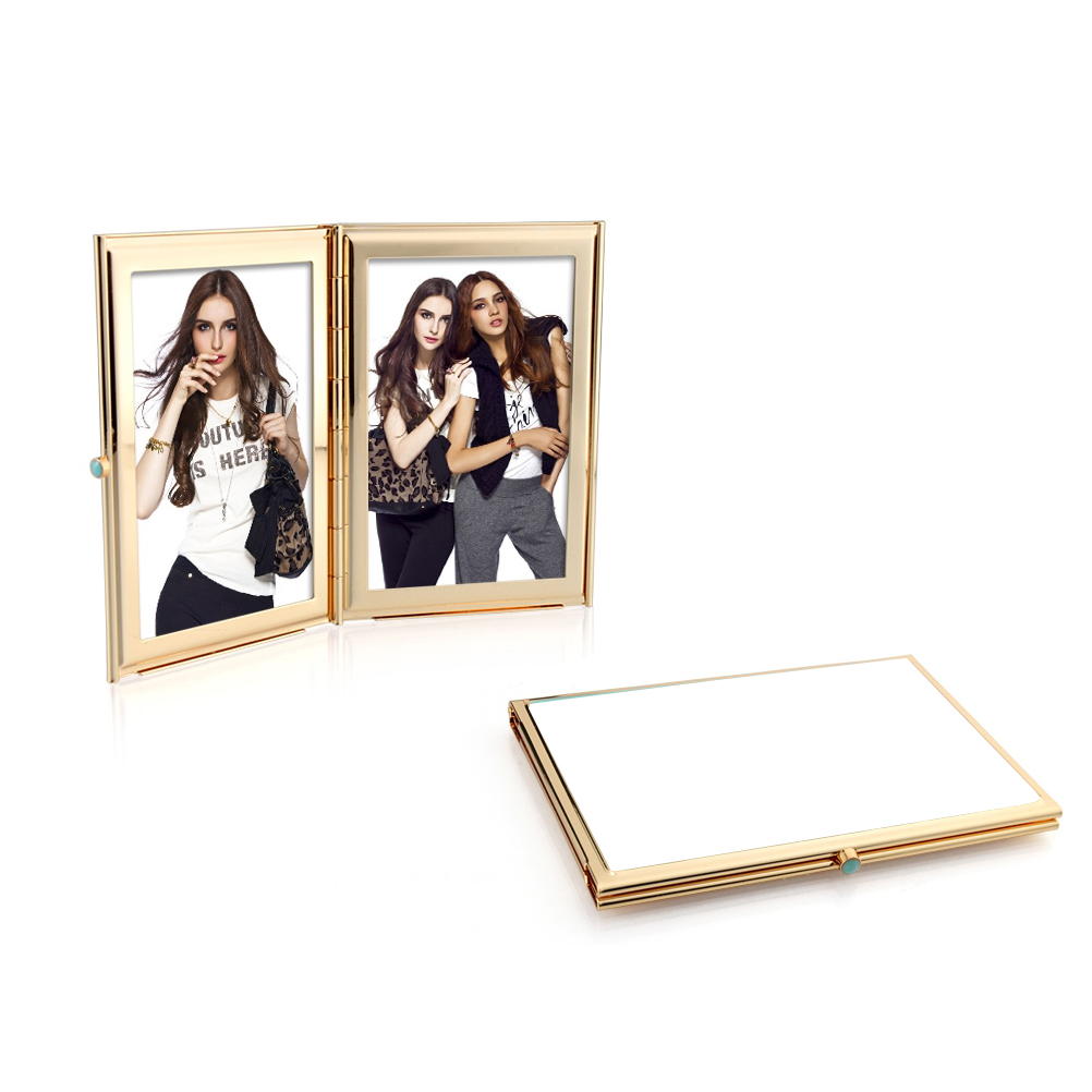 White & Gold Travel Frame - Enamel Frame - Addison Ross