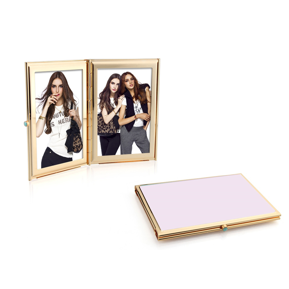 Pastel Pink & Gold Travel Frame - Enamel Frame - Addison Ross