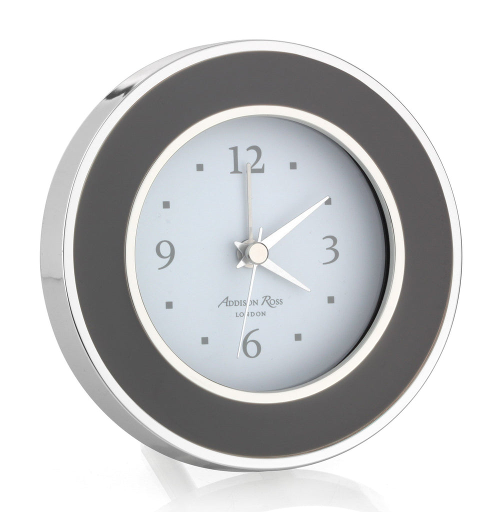 Taupe & Silver Alarm Clock - Clock - Addison Ross