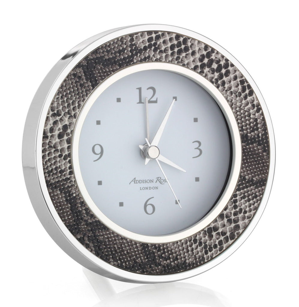 Natural Snake Silver & Alarm Clock - Clock - Addison Ross