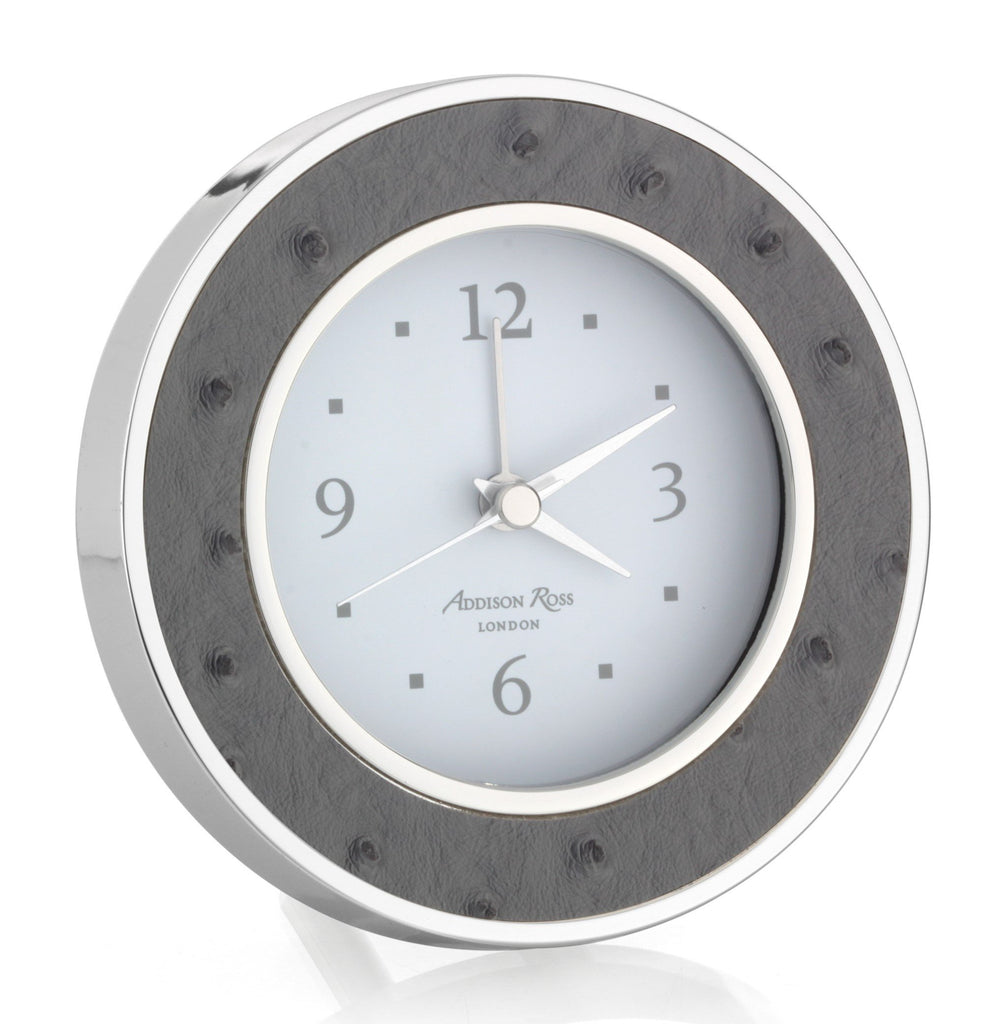 Twilight Ostrich Silver Alarm Clock - Clock - Addison Ross