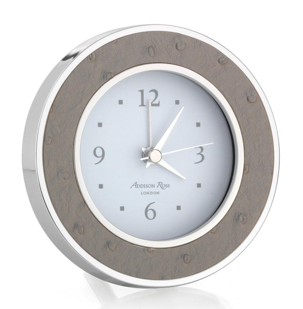 Shadow Ostrich Silver Alarm Clock - Clock - Addison Ross