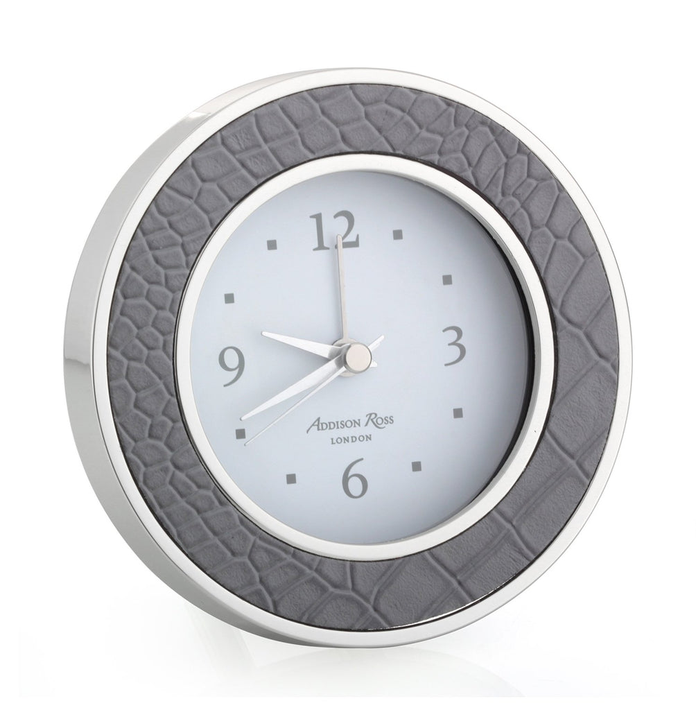 Dove Croc Silver Alarm Clock - Clock - Addison Ross