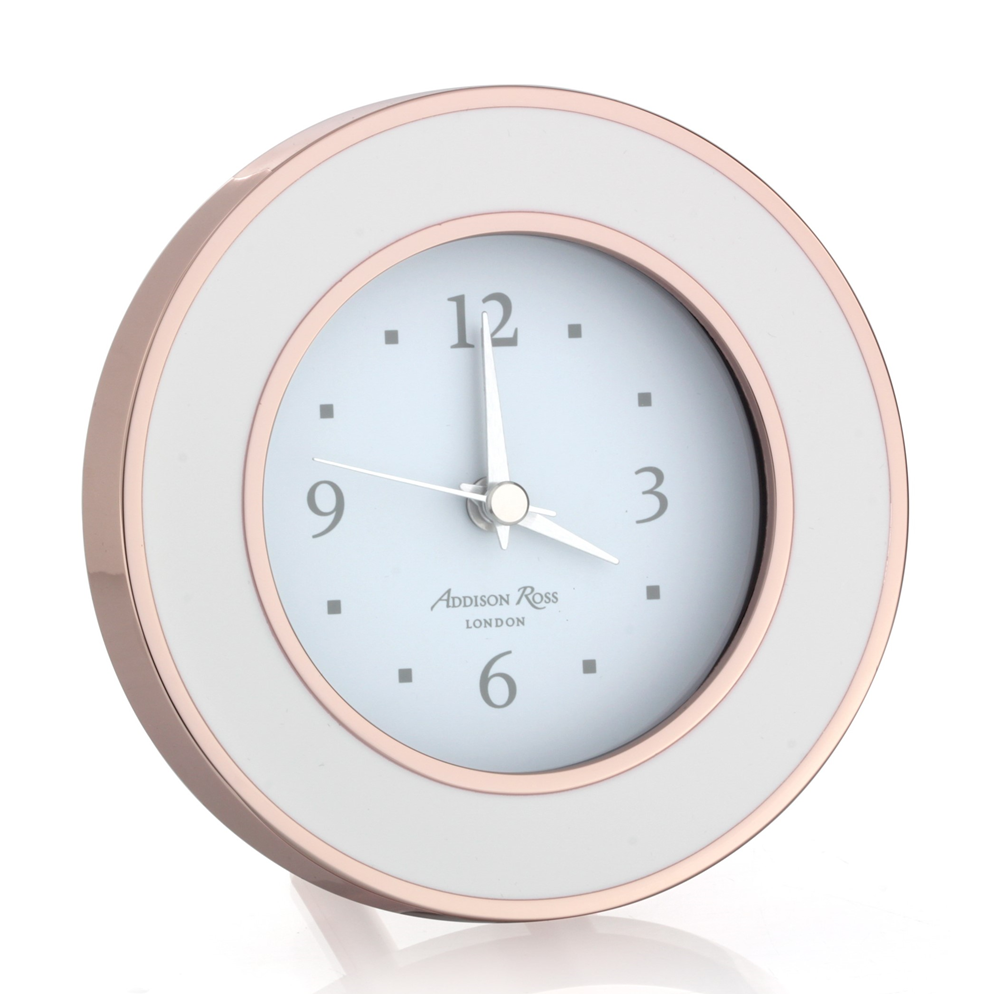 Rose Gold & White Alarm Clock - Clock - Addison Ross