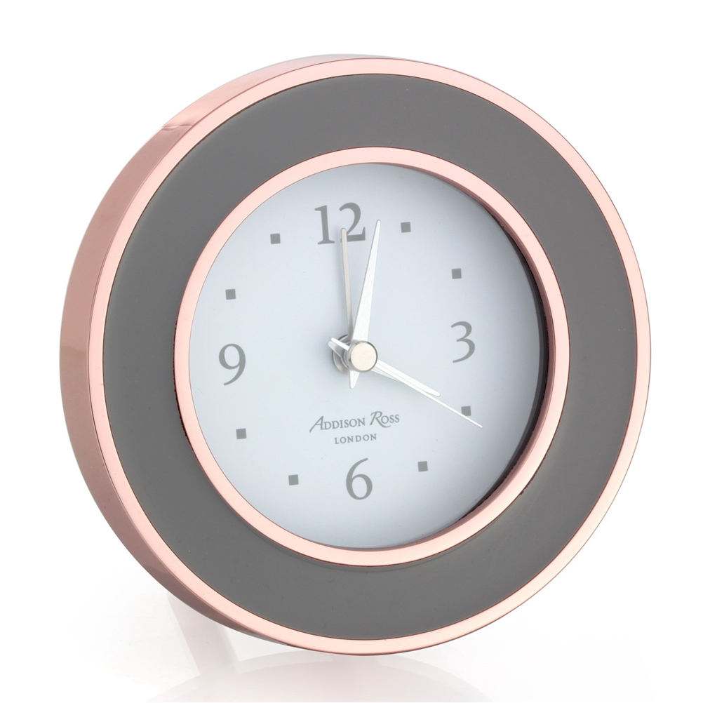 Rose Gold & Taupe Alarm Clock - Clock - Addison Ross