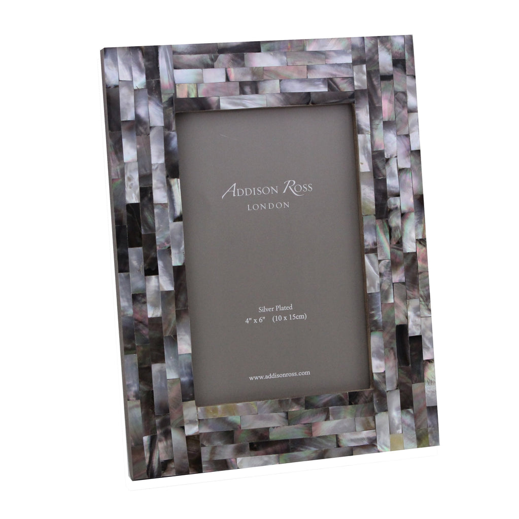 Chequer Board Grey Mother of Pearl Photo Frame